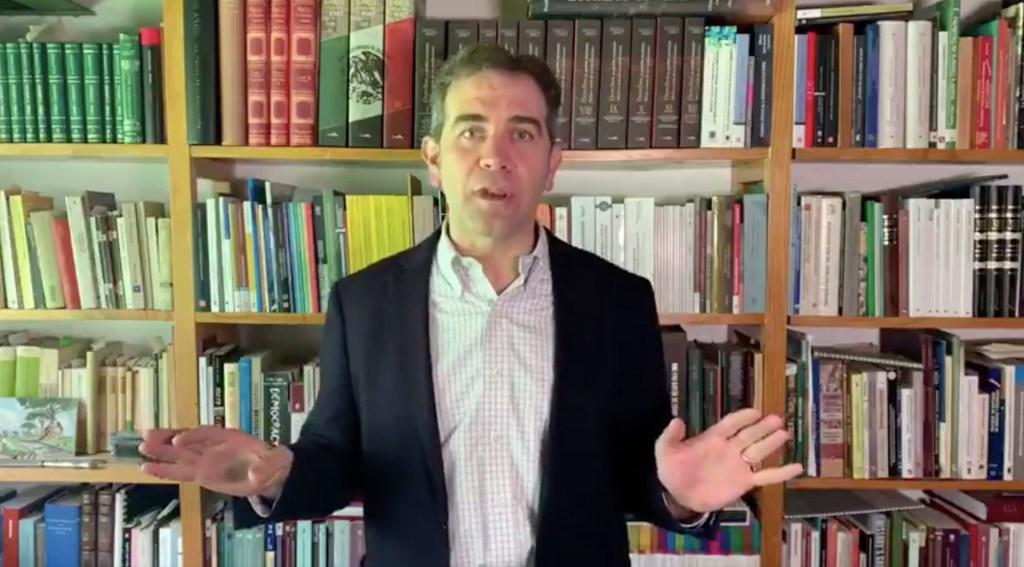 Intromisión del Ejecutivo en elecciones, un error que no debe volver a repetirse: Córdova - Consejero presidente del INE, Lorenzo Córdova. Captura de pantalla
