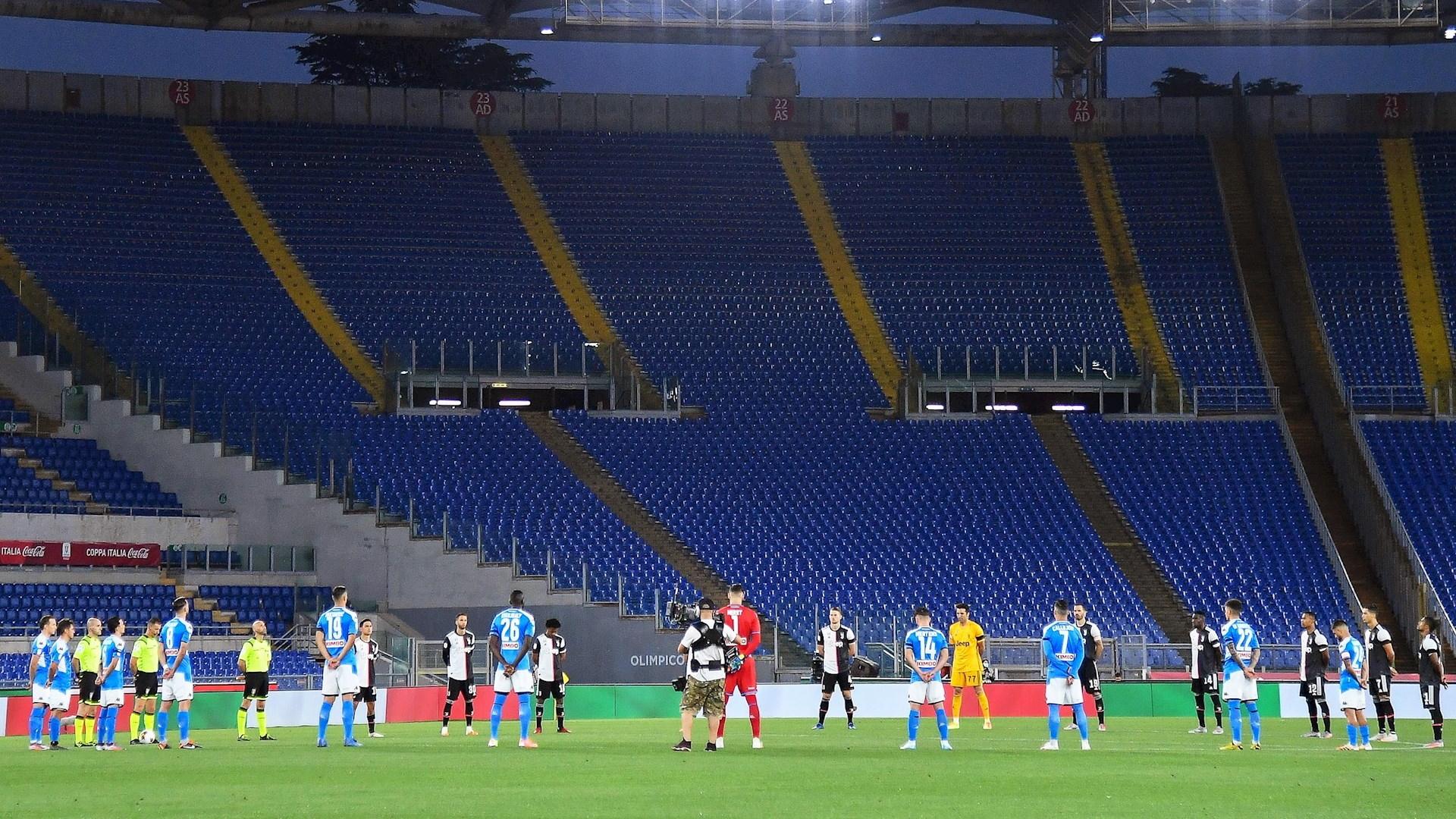 Nápoles Juventus final Copa Italia futbol minuto de silencio