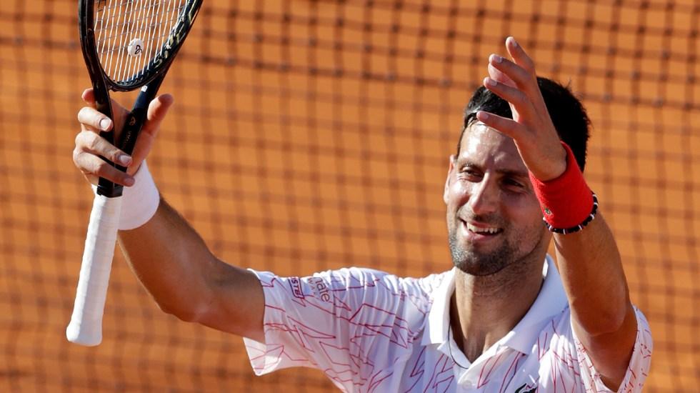 Novak Djokovic se somete a test de COVID-19; su entrenador dio positivo - Novak Djokovic se somete a test de COVID-19