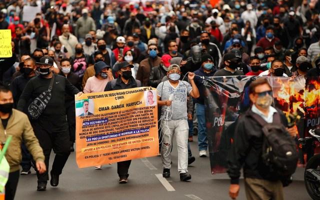 """Policías de la Ciudad de México protestan ante """"criminalización"""" de su labor - protesta policías cdmx"""