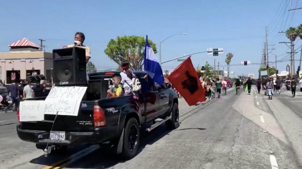 Protestas contra abuso policial regresan a Los Ángeles tras muerte de hispano - Protestas Los Ángeles violencia policial