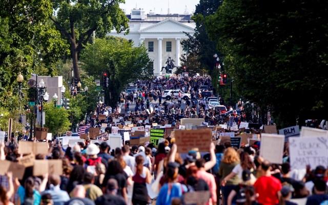 Protestas por George Floyd continúan en Washington DC, amurallan la Casa Blanca - Protestas Washington Estados Unidos George Floyd 2