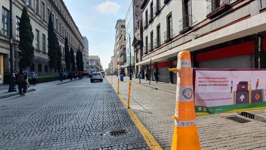 Reconvertirán calles del Centro Histórico capitalino en reapertura económica - Reconversión de calles en el Centro Histórico de la CDMX. Foto de Gobierno de la CDMX