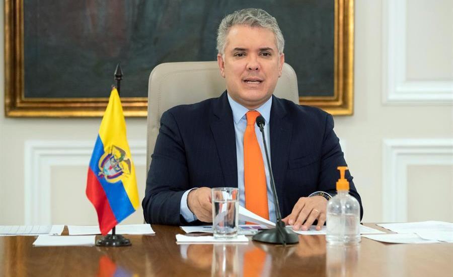Prolongan hasta el 30 de agosto la cuarentena en Colombia tras desbordamiento de la pandemia - Iván Duque, presidente de Colombia. Foto de EFE.