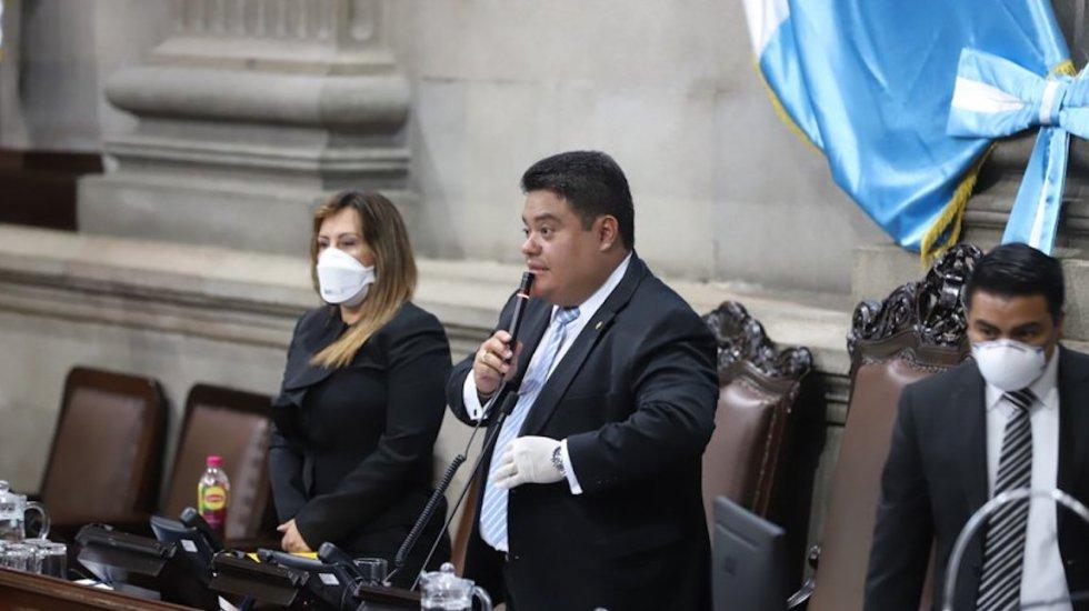 Hospitalizan al presidente del Congreso de Guatemala por COVID-19 - Allan Rodríguez. Foto de @CongresoGuate