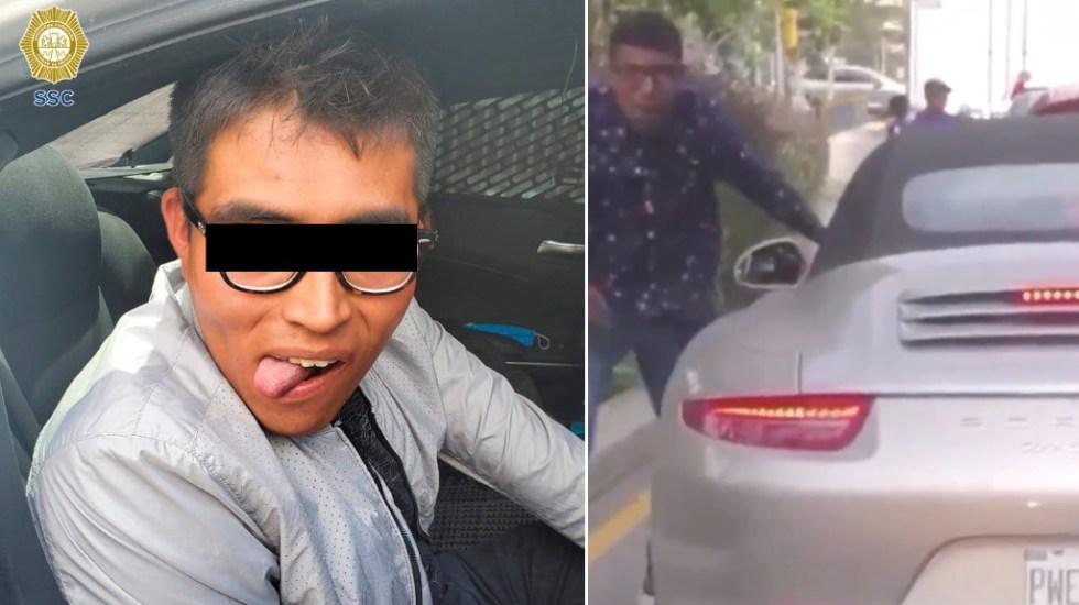 Detienen a asaltante de automovilistas en la Ciudad de México - Asaltante automovilistas Ciudad de México