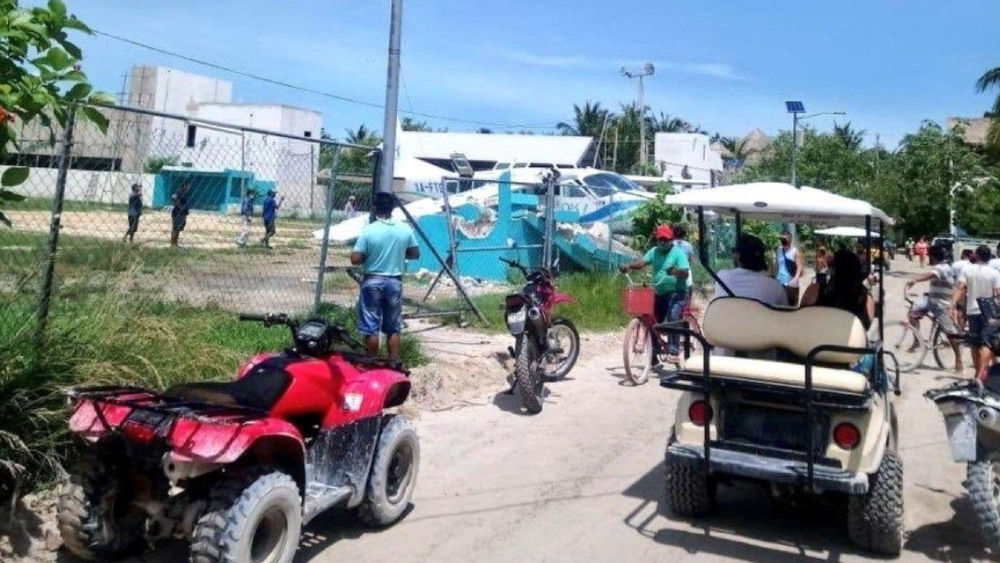 Se accidenta aeronave en Holbox, Quintana Roo - Foto de @EnEl_Aire