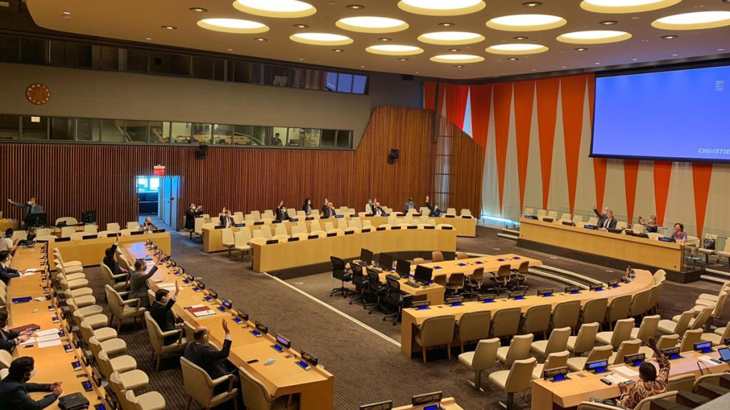 Consejo de Seguridad de ONU se reúne en persona por primera vez desde marzo - Consejo de Seguridad de la ONU. Foto de @GermanyUN