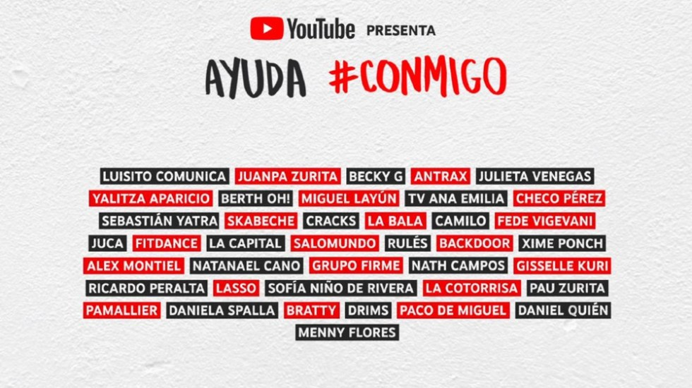 YouTube realiza evento virtual para ayudar a Cruz Roja Mexicana - Foto de Youtube
