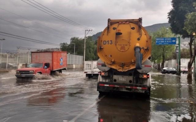#Video Encharcamientos por lluvia de este domingo en la Ciudad de México - Foto de Twitter Sacmex