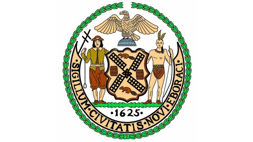 Ciudad de Nueva York analizará su escudo, que incluye a un nativo americano - Escudo Ciudad de Nueva York Estados Unidos