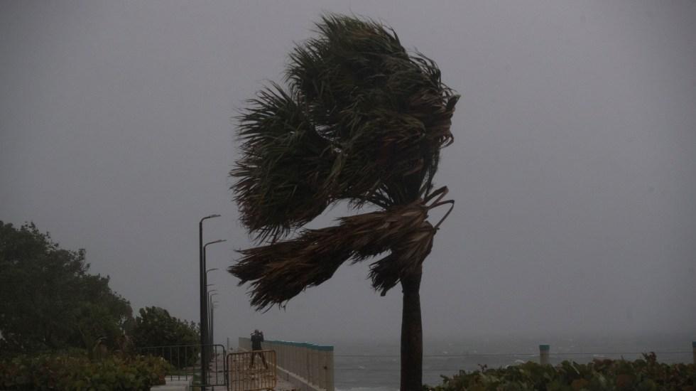 Isaías avanzará como huracán categoría I hacia Bahamas y Florida - Fuertes rachas de viento por Isaías en República Dominicana. Foto de EFE