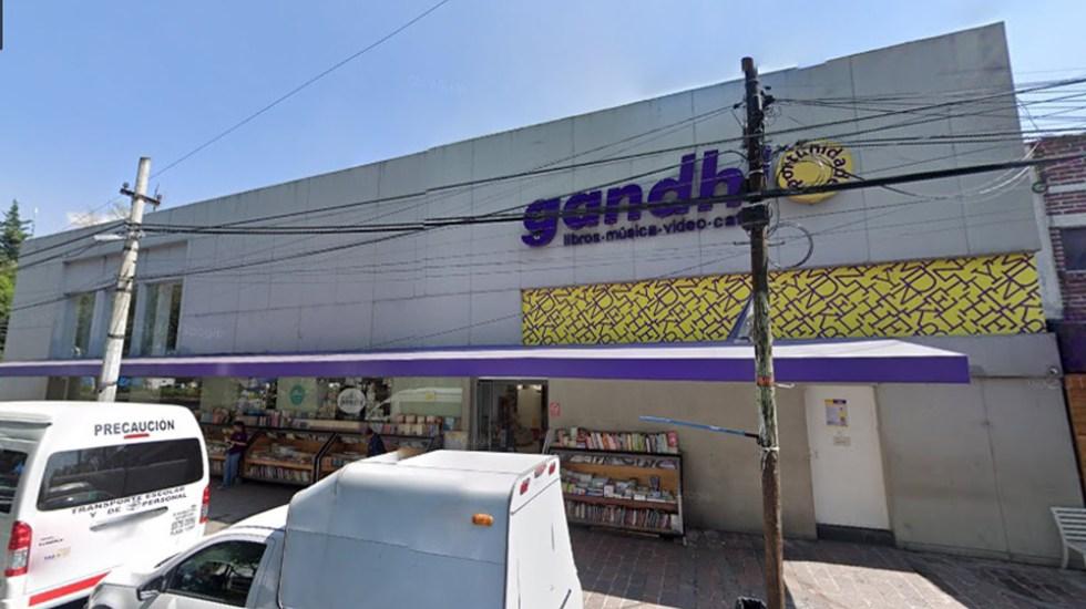 Gandhi cerrará su histórica librería Oportunidades al sur de la Ciudad de México - Gandhi Oportunidades sobre Av. Miguel Ángel de Quevedo. Foto de Google Maps