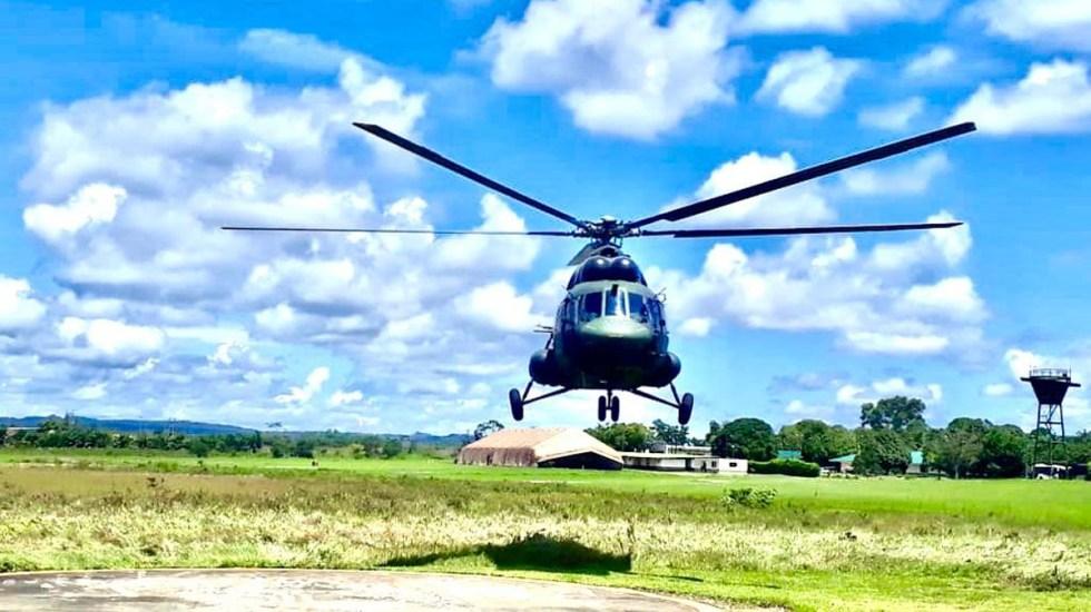 Accidente de helicóptero militar en Colombia deja 6 heridos y 11 desaparecidos - Helicóptero MI17 del Ejército de Colombia. Foto de @Ejercito_Davaa