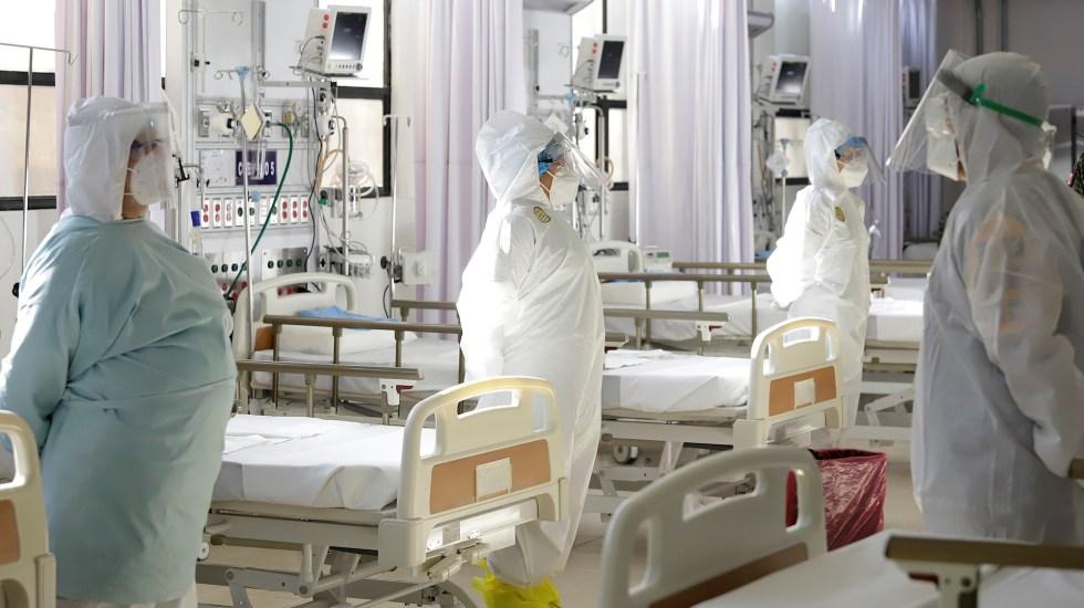 López Obrador asegura que hay presupuesto para enfrentar la pandemia - Hospital Puebla COVID-19 Sedena