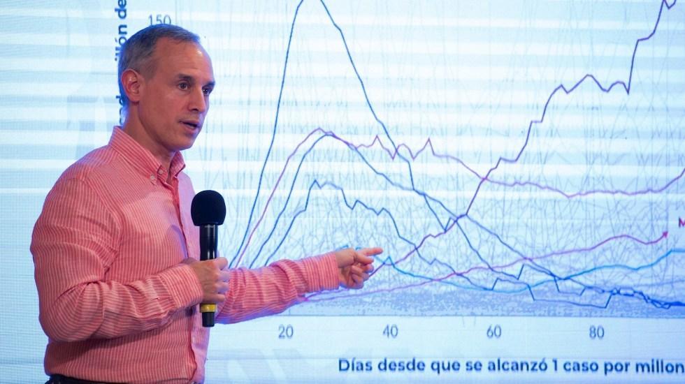 """López-Gatell """"maquilla"""" las cifras de COVID-19, sostiene Mauricio Kuri - Hugo López-Gatell, subsecretario de Salud. Foto de EFE/ Presidencia de México."""