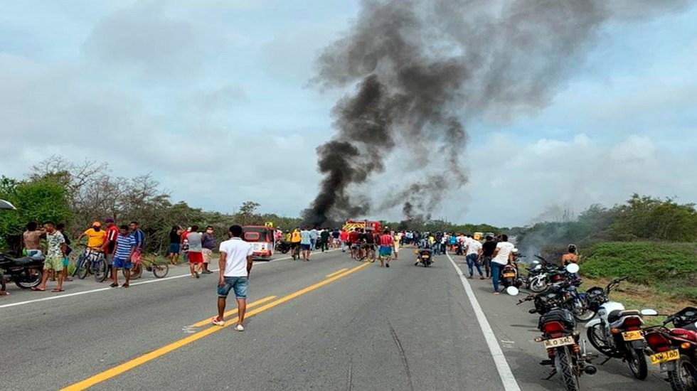 Aumenta a 11 el número de muertos por incendio de camión cisterna en Colombia - Foto de EFE