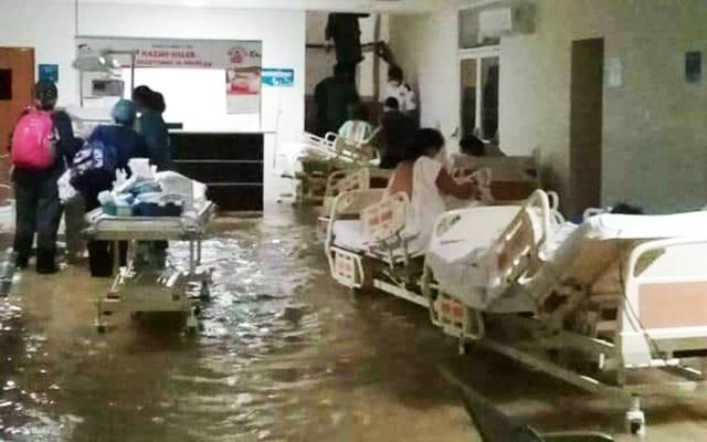 #Video Hanna causa inundación en Hospital Materno Infantil de Reynosa - Inundación en el Hospital Materno Infantil de Reynosa. Foto de Twitter / Especial