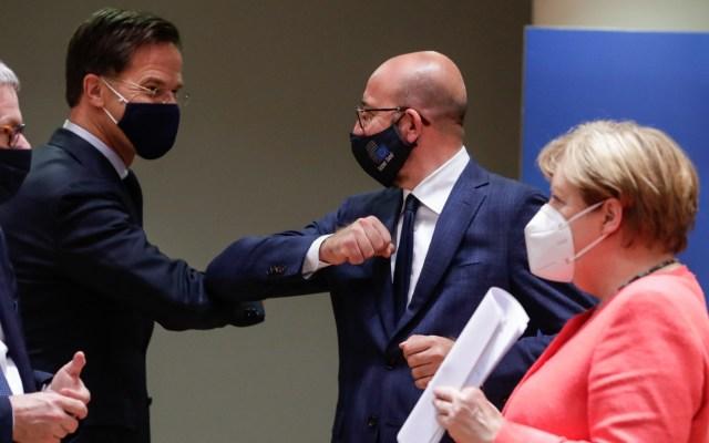 Unión Europea alcanza acuerdo sobre plan de recuperación post-pandemia - Líderes europeos en último día de negociaciones. Foto de EFE