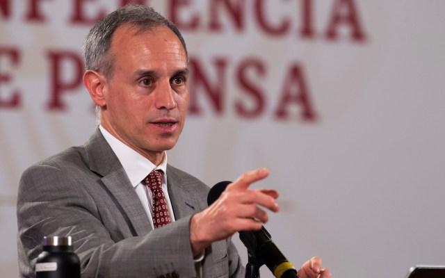 No es posible documentar todas las muertes por COVID-19, asegura López-Gatell - López-Gatell en conferencia de prensa. Foto de EFE