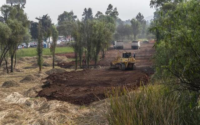 Puente vehicular amenaza humedal de Xochimilco, área ecológica crucial capitalina - Parte del humedal de Xochimilco donde se construirá el puente vehicular. Foto de El País