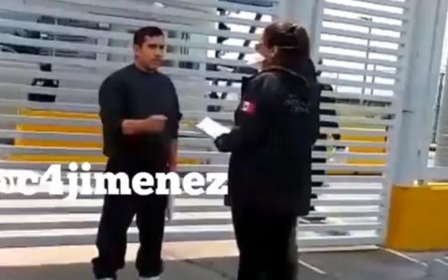 #Video Así detuvieron a 'El Mochomo' al salir del Altiplano - Reaprehensión de 'El Mochomo'. Captura de pantalla / @c4jimenez
