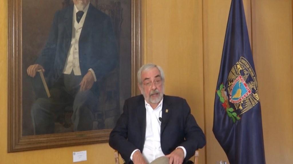 #Video Enrique Graue confirma que UNAM no volverá a actividades antes del fin del periodo vacacional - Captura de pantalla
