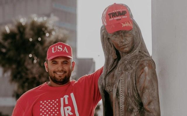 Familia exige dejar de usar imagen de Selena Quintanilla en mítines a favor de Trump - Foto de Facebook Joe Michael Perez