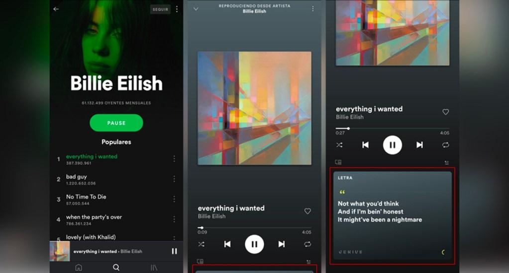 Spotify integra función de letras de canciones en asociación con Musixmatch - Spotify letras