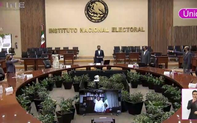 PES sí logró registro como Partido Político; Elba Esther Gordillo y Grupo Social Promotor de México no lo obtuvieron - Toma de protesta de nuevos consejeros del INE. Captura de pantalla