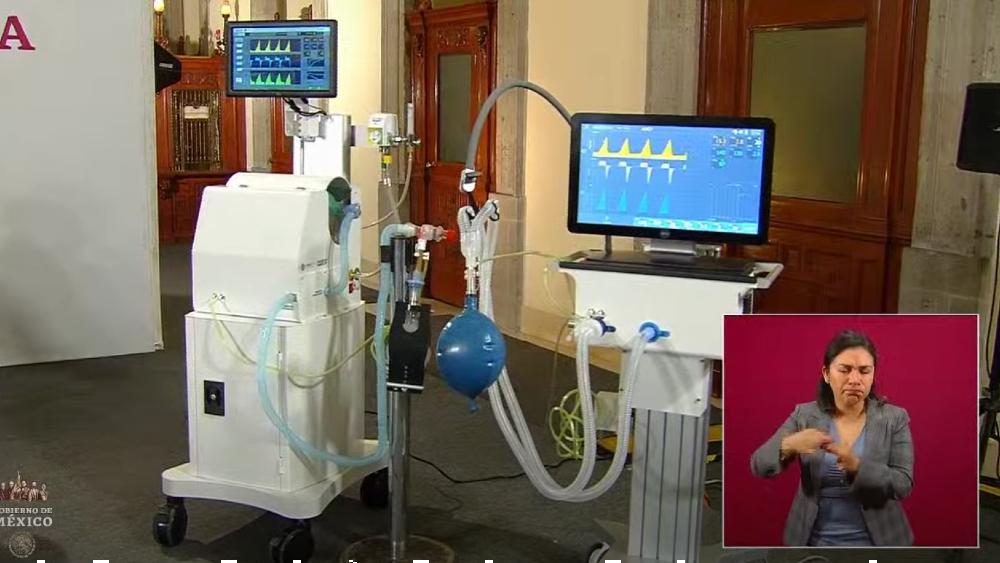 Presentan dos ventiladores hechos en México para atender a pacientes de COVID-19 - Foto de captura de pantalla