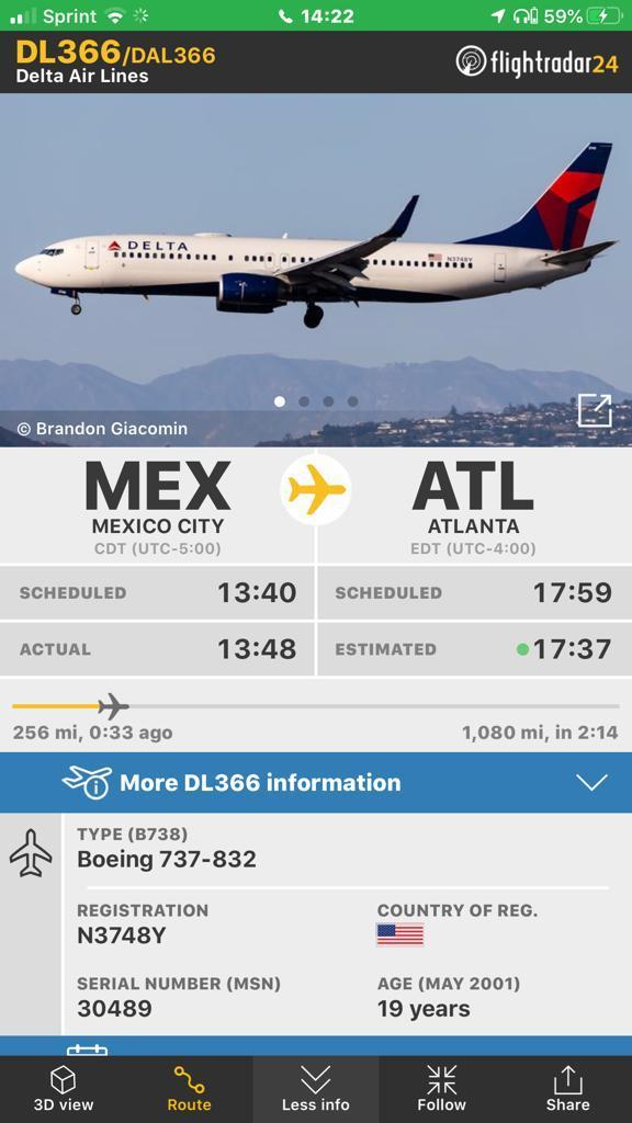 vuelo AMLO Washington
