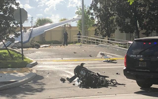 Muere mexicano en accidente aéreo en Florida - Foto de @IanMargolWPLG