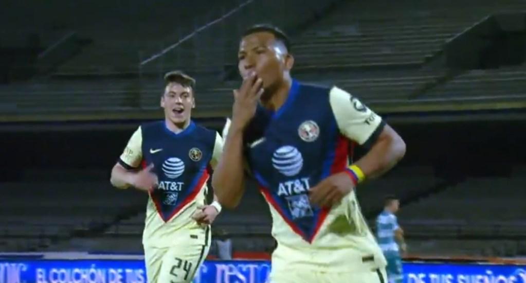 América derrota 3-1 al Santos Laguna y continúa como líder - América Santos Laguna partido futbol