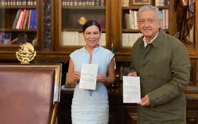 López Obrador conversa con presidentas de las Mesas Directivas de las Cámaras de Senadores y Diputados - Foto de @lopezobrador_
