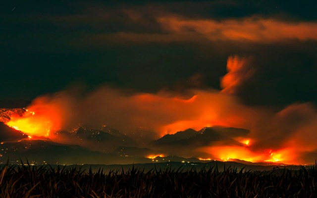 Evacuan a más de 7 mil personas por incendio forestal en California - Apple Fire en California. Foto de Ted Schaffer / Perris Metrolink Station