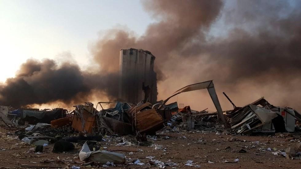 #Videos Fuerte explosión en almacén del puerto de Beirut - Foto de EFE