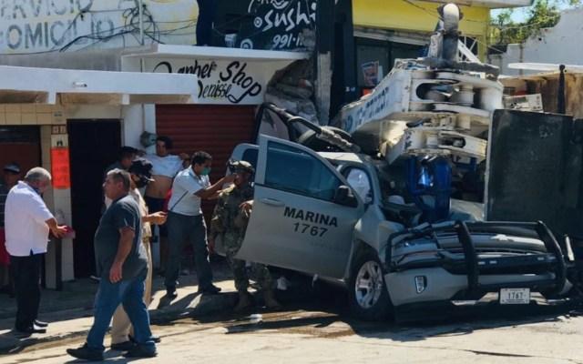 #Video Choque de grúa contra camioneta de Marina deja un muerto en Mazatlán - Foto de @yomero_2006
