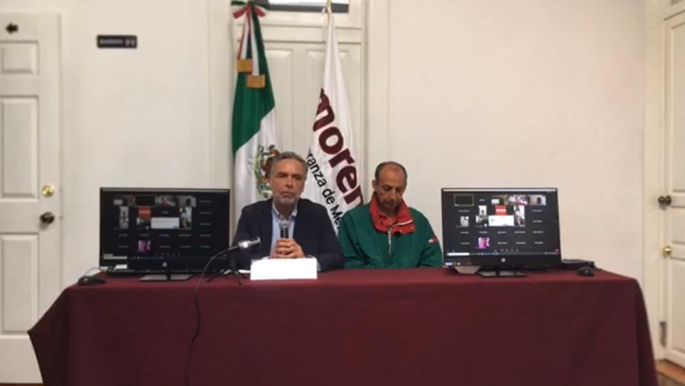 Acusa Ramírez Cuéllar sobornos a magistrados del TEPJF para resolución sobre Morena - Conferencia de prensa de Ramírez Cuéllar. Captura de pantalla