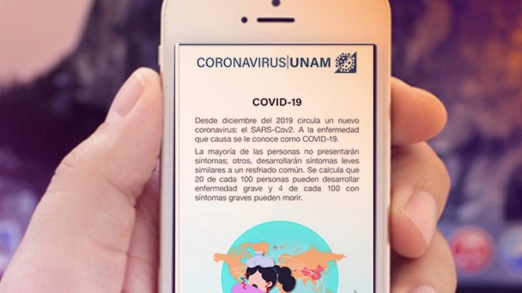 UNAM monitorea ruta del COVID-19 en México a través de la app Coronavirus/UNAM - Foto de UNAM