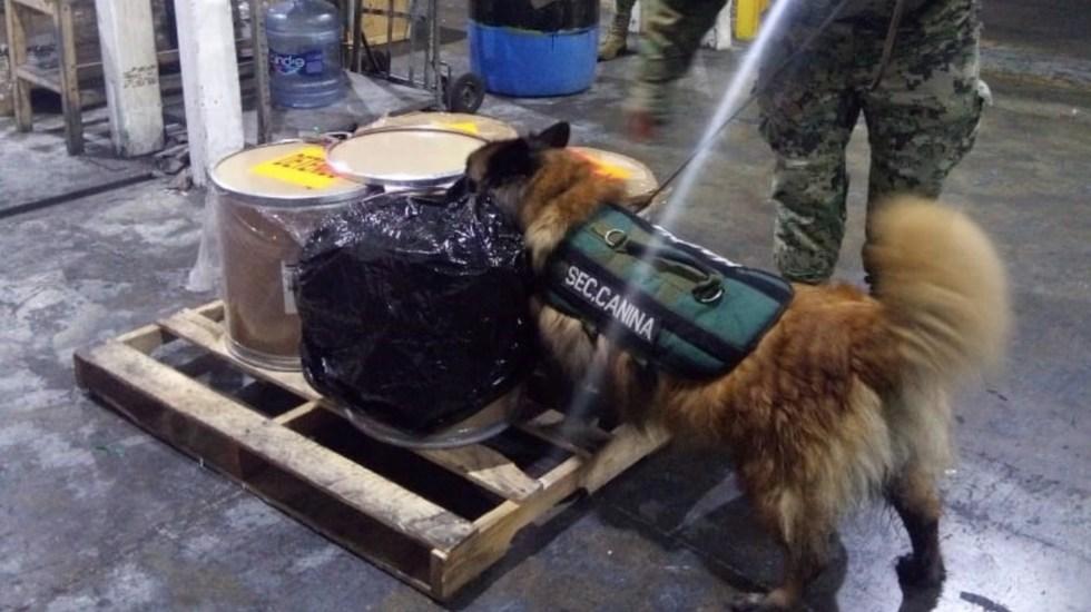 Decomisan 113.5 kilos de fentanilo en el AICM - Foto de SAT