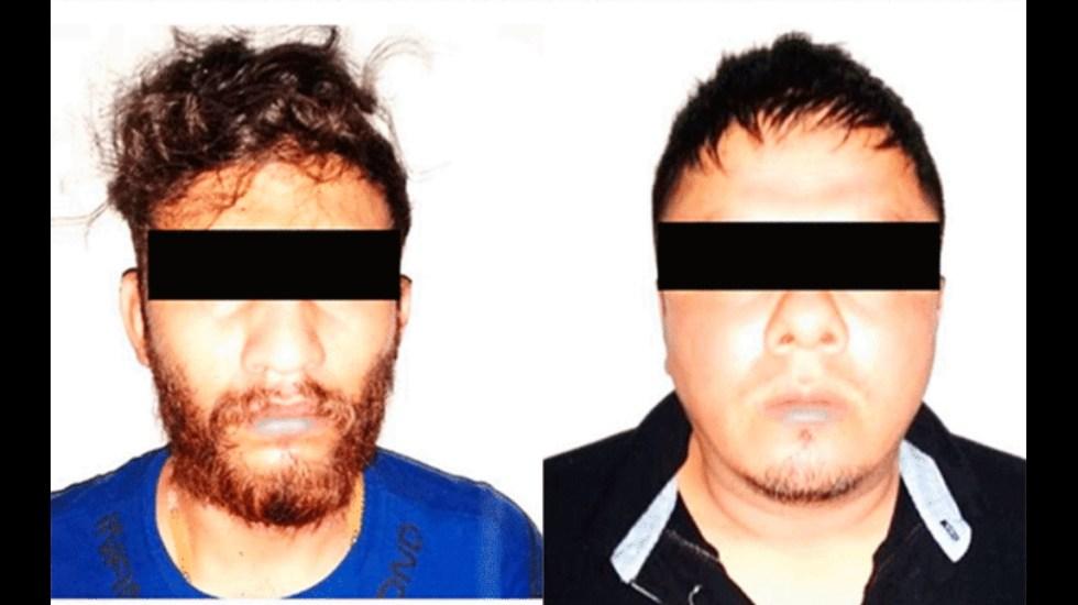 Detienen en Veracruz a dos presuntos miembros del CJNG con armas - Detenidos Veracruz CJNG armas