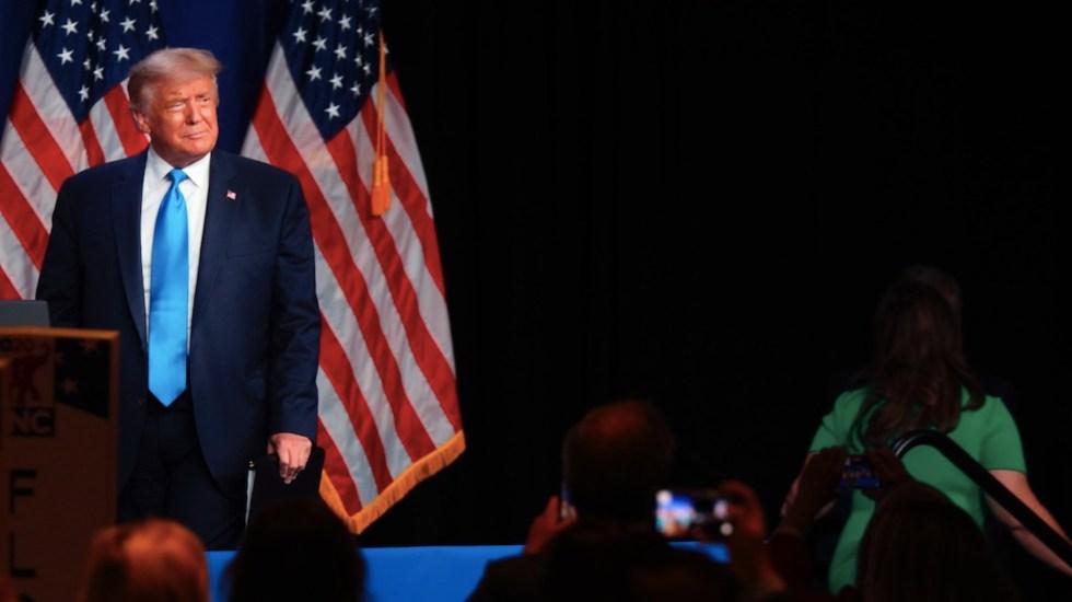 """Donald Trump aparece en el Convención Republicana y acusa un """"posible fraude"""" en el voto por correo - Foto de EFE"""