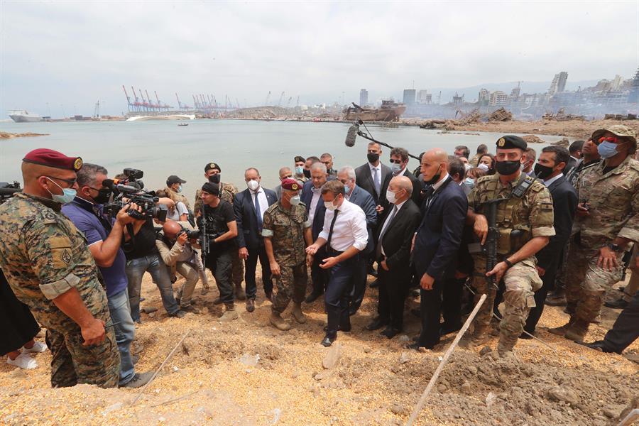 Emmanuel Macron. Foto de EFE/EPA/DALATI NOHRA.