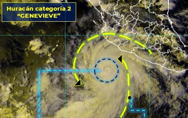 Genevive ya es huracán categoría 2; lluvias azotarán Nayarit, Jalisco y Colima - Genevieve huracán categoría 2. Foto de SMN