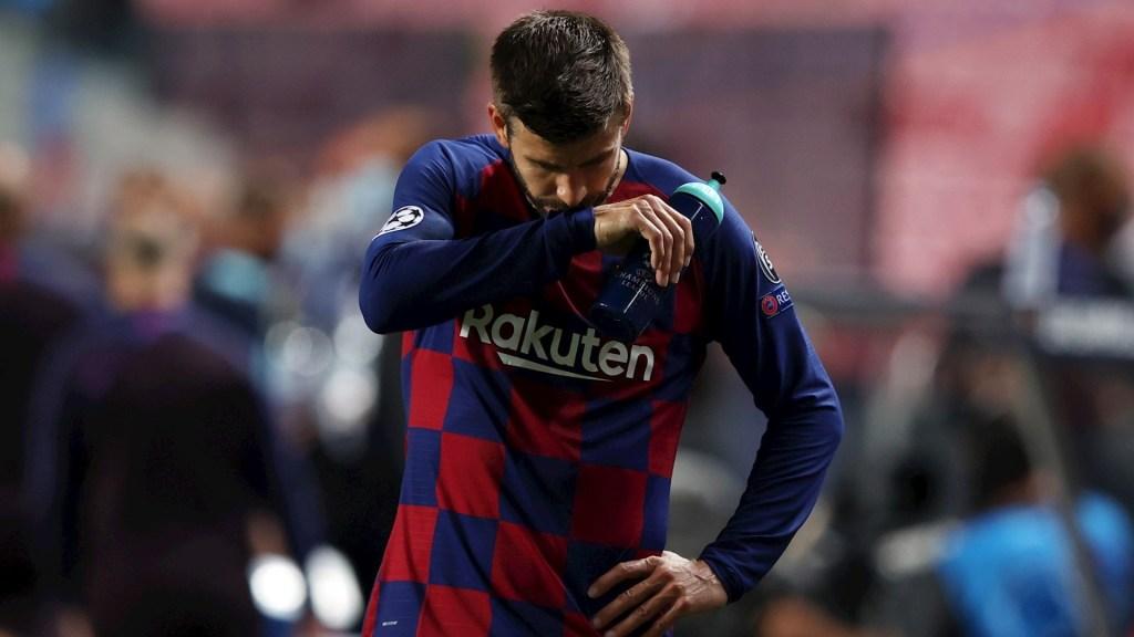 """""""Me ofrezco a dejar al Barcelona si es necesario"""", expresa Piqué tras goleada del Bayern - Gerard Piqué Barcelona Champions"""