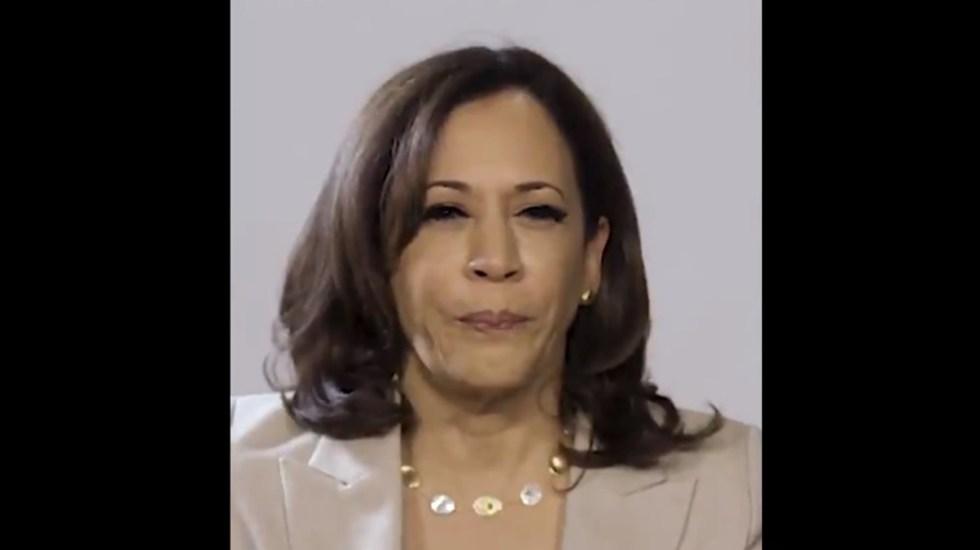 #Video La palabra en español que conoce Kamala Harris - Kamala Harris en entrevista con Univision. Captura de pantalla