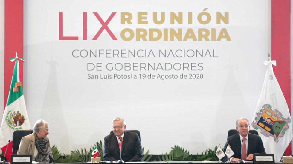 El Gobierno Federal no es sectario, aseguró López Obrador a gobernadores - López Obrador en reunión con la Conago. Foto de @lopezobrador_