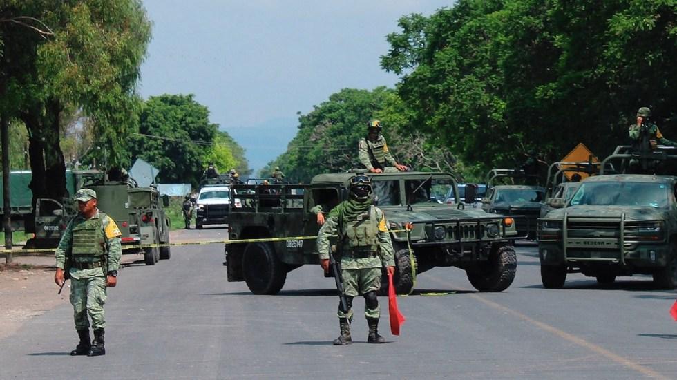Mantienen operativos de seguridad en Guanajuato para evitar violencia tras detención de 'El Marro' - Operativo de fuerzas federales en Guanajuato para prevenir delitos tras captura de 'El Marro'. Foto de EFE