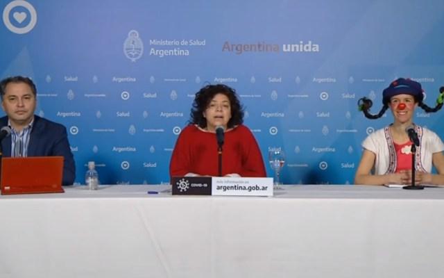 #Viral Payasa aparece en informe sobre COVID-19 en Argentina - Payasa reporte COVID-19 Argentina